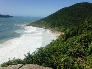 Praia do Saquinho, uma das praias do Sul de Floripa