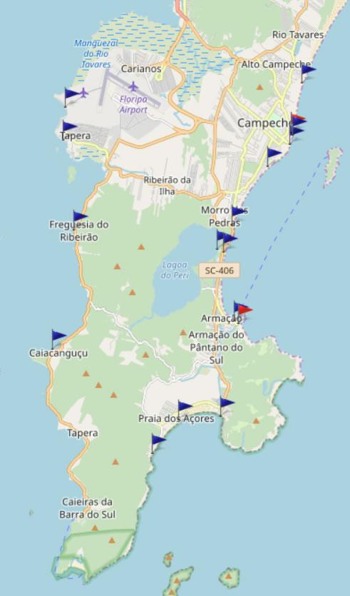 Mapa de Balneabilidade das Praias