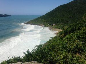 Primeira vista da Praia do Saquinho